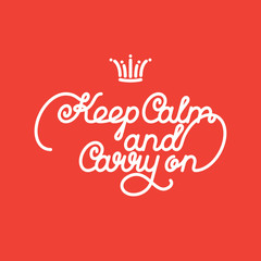 Fototapetakeep calm and carry on