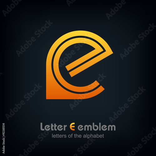 Letter E logo icon design typography template elements, ABC concept ...