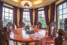 Dining Area In Colonial Style
