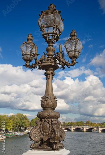 Staande foto Parijs Bridge of Alexandre III in Paris