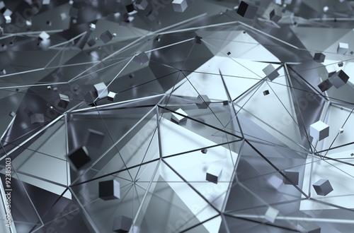 Fototapeta trójwymiarowy wzór z bryłami