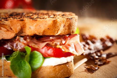 Staande foto Snack Fresh toasted sandwich