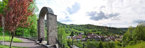 Panoramafoto Oberschönau / Thüringer Wald © Henry Czauderna