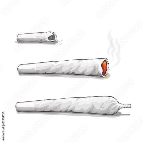 Fotografie, Obraz  Joint or spliff. Drug consumption, marijuana and smoking drugs