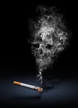 Danger Tabac Cigarette Addiction Santé 2021 Tête De Mort