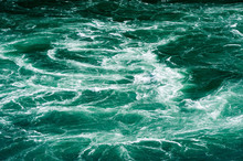 Abstract White Water Currents In Green River