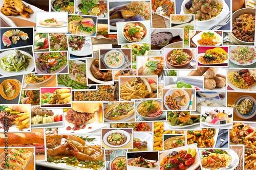 Fotografie, Obraz  World Cuisine Collage