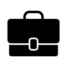 Work Briefcase Flat Icon For Apps And Websites