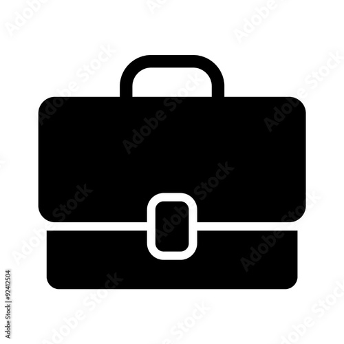 Work briefcase flat icon for apps and websites Canvas Print