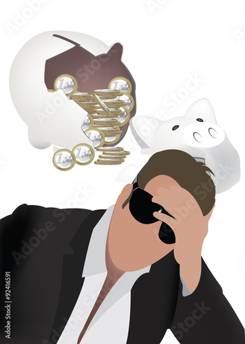 Fotografie, Obraz  deposito insolvenza