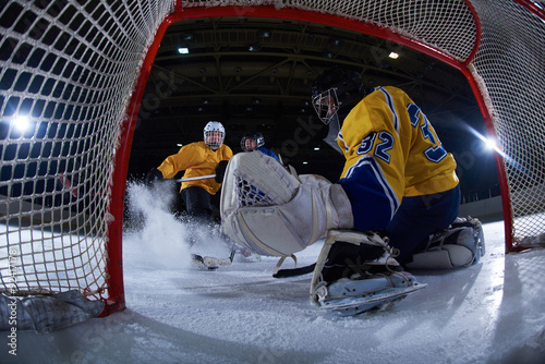 fototapeta na drzwi i meble ice hockey goalkeeper