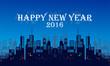 urban skyline happy new year
