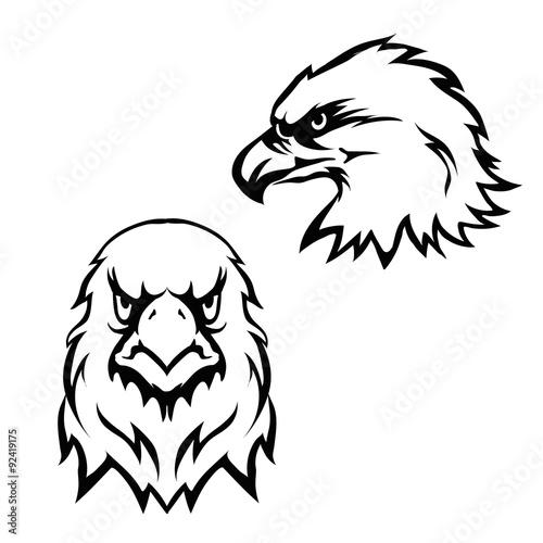 Eagles Head Logo Emblem Template Set Mascot Symbol For Business