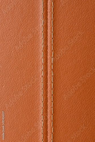 Deurstickers Leder brown leather texture