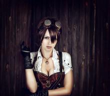 Portrait Of A Sexy Steampunk Woman