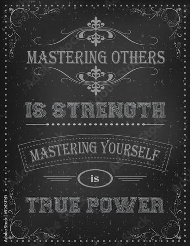 Fototapeta  Vintage Motivační Citace Plakát