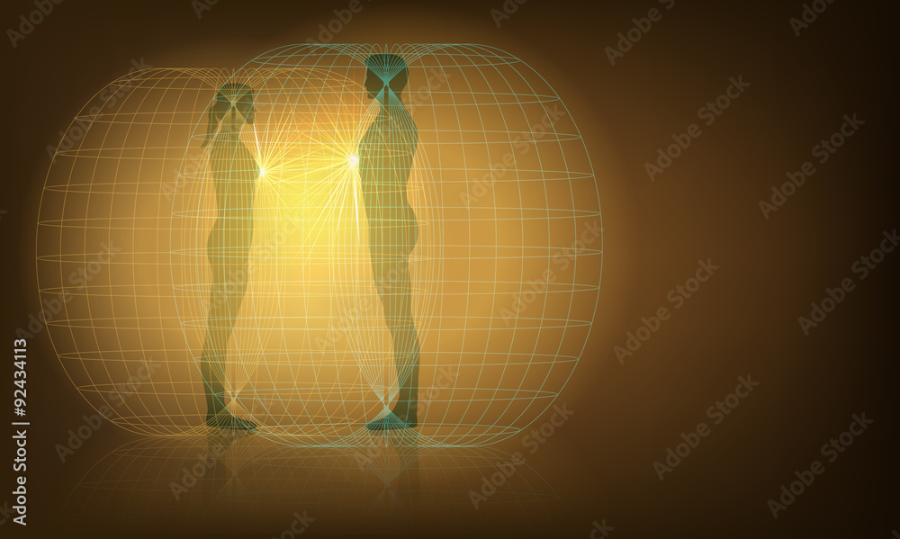 Fotografia auras interaction