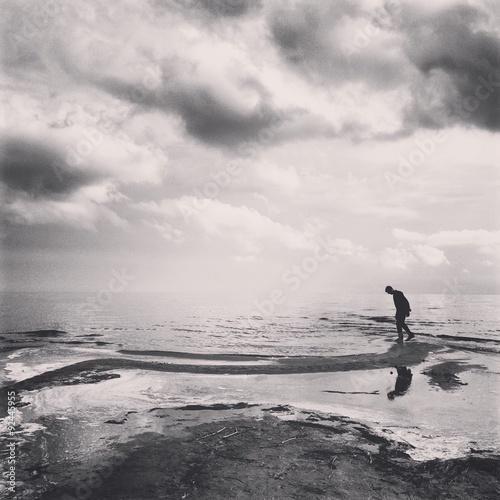 a man on the coast