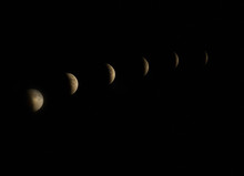 A Total Lunar Eclipse, Blood Moon, Super Moon And Harvest Moon