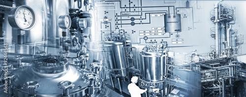 Fotografie, Obraz  Chemieindustrie und Pharmazeutische Industrie