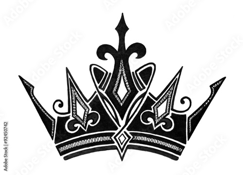 Crown Illustration King Queen Prince Or Princess Crown Symbol Or