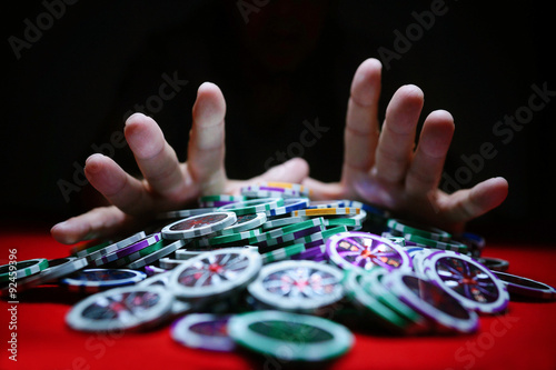 Poster Casino chips