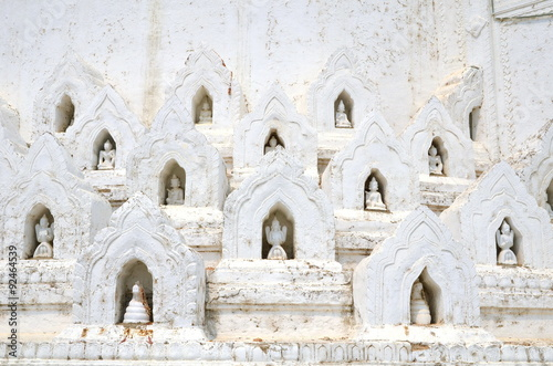 sculpture in White pagoda of Hsinbyume Poster