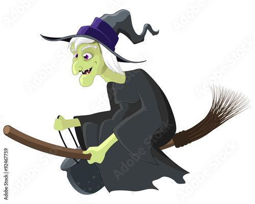Valokuvatapetti Witch Riding a Broom