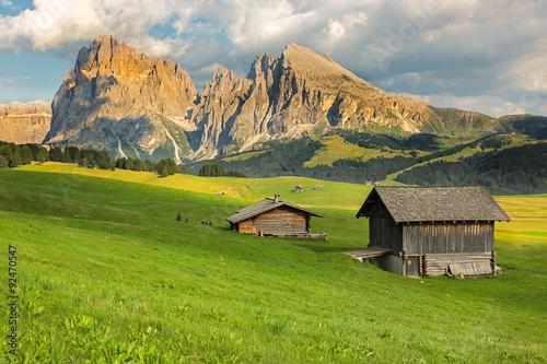 Photo  Langkofel Group at Seiser Alm, South Tyrol, Italy