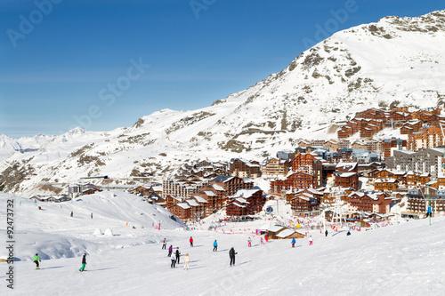 Photo sur Aluminium Glisse hiver view of the Val Thorens ski resort of Three Valleys , France