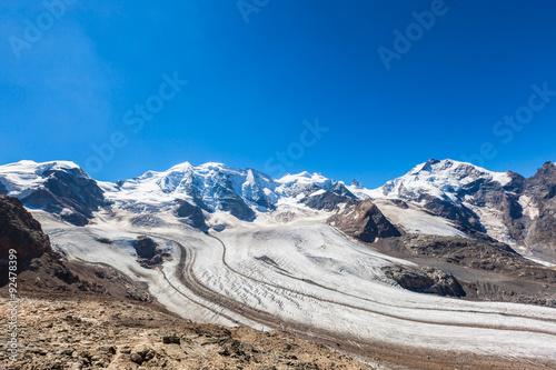 Poster Glaciers Bernina massive and glacier