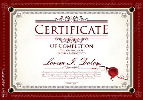 Fotografía  Certificate, Diploma of completion