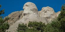 Carvings Of Presidents Washington And Jefferson At Mount Rushmore Near Rapid City, South Dakota