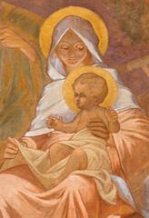 Fototapeta Do kościoła Banska Bela - fresco of Holy Family in St. John the Evangelist church