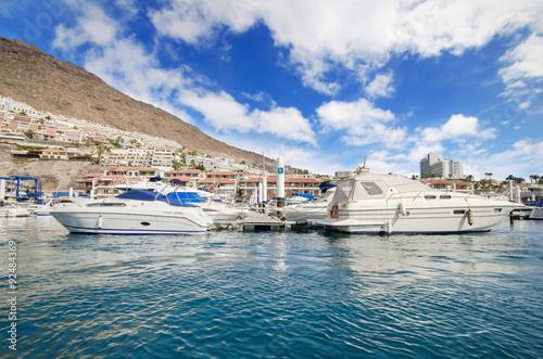 Fotografía  Los Gigantes yatch marina in Tenerife, Canary islands, Spain.