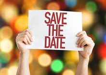 Save The Date Placard With Bok...