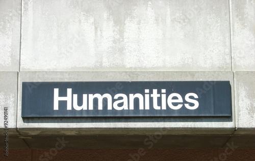 Fotografie, Obraz  Humanities sign