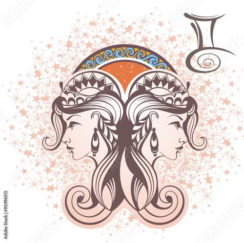 Obraz na płótnie Gemini. Zodiac sign