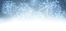 Festive Xmas Firework Backgrou...