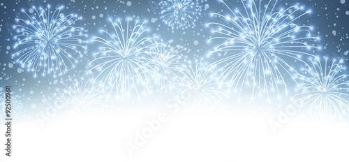 Fotografia, Obraz Festive xmas firework background.