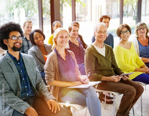 Fotografía  Multiethnic Group Seminar Training Boardroom Concept