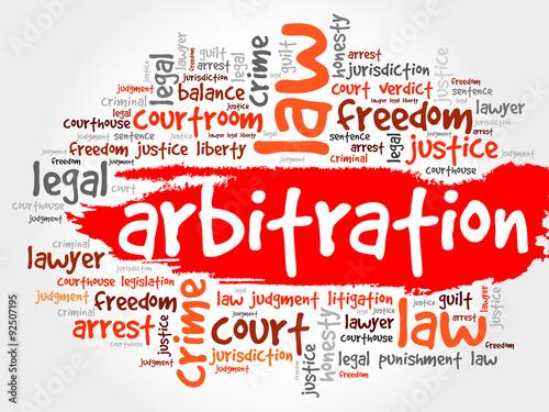 Photo Arbitration word cloud concept