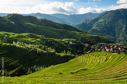 Tuinposter Guilin Longsheng rice terraces guilin china landscape