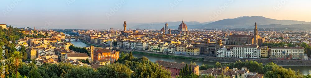 Fototapeta Florence city skyline panorama - Florence - Italy
