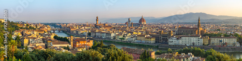 Spoed Foto op Canvas Panoramafoto s Florence city skyline panorama - Florence - Italy