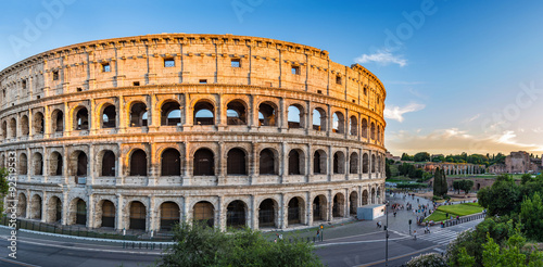 Spoed Foto op Canvas Rome sunset at Colosseum - Rome - Italy