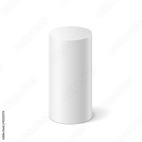 Fotografía  White 3D cylinder