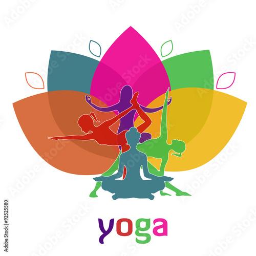 Blossom lotus flower yoga vector illustration app banner buy blossom lotus flower yoga vector illustration app banner mightylinksfo