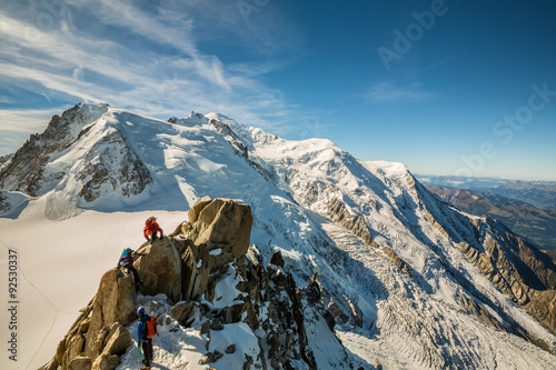 Photo Stands Mountaineering alpinismes au massif du mont blanc
