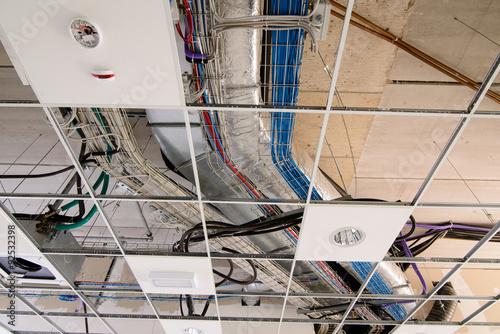 Fotografie, Obraz  Impianto elettrico e condizionamento soffitto